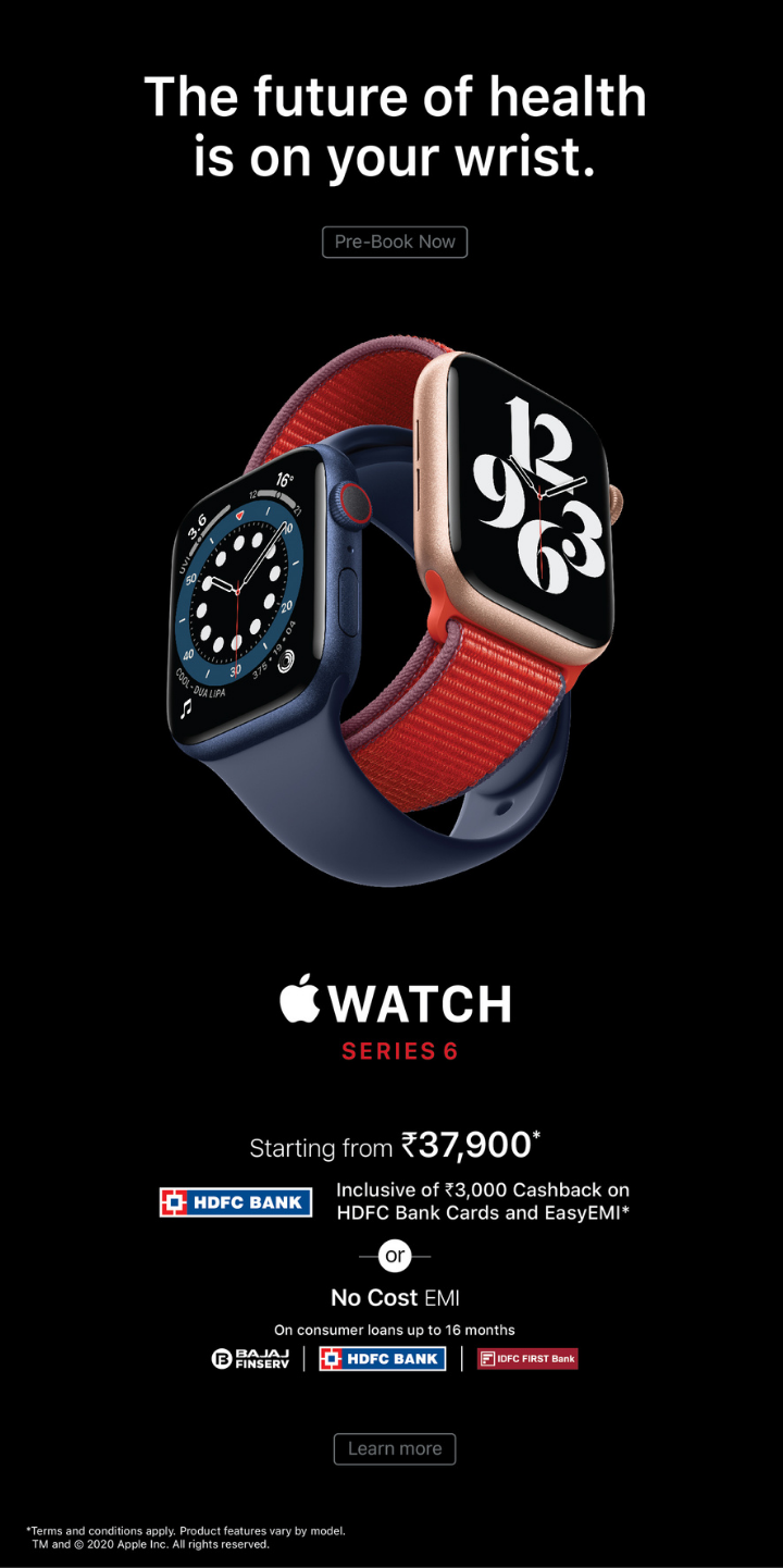 Apple Watch Series 6 Mobile Banner