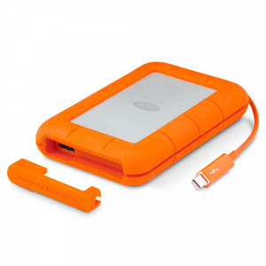 LaCie Rugged 2TB External Hard Drive, USB C & USB 3.0 compatible, Drop Shock Dust Rain Resistant – Silver